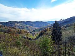 Blick vom Wiedenereck ins Tal auf die Ortschaft Wieden