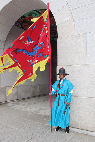 Guard with Flag