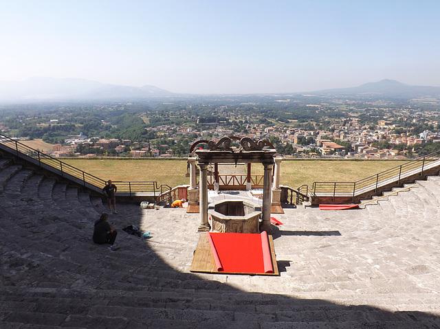 The Theatre in the Sanctuary of Fortuna Primigenia in ancient Praeneste / modern Palestrina, June 2012