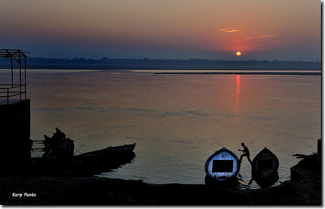 """Sunrise at the Ganges River"" - Varanasi - INDIA"