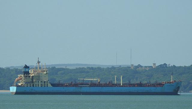 Maersk Kiera in the Solent - 19 June 2015