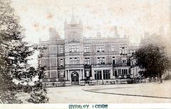Entrance Front, Byrkley Lodge, Staffordshire c1880 (Demolished c1970)
