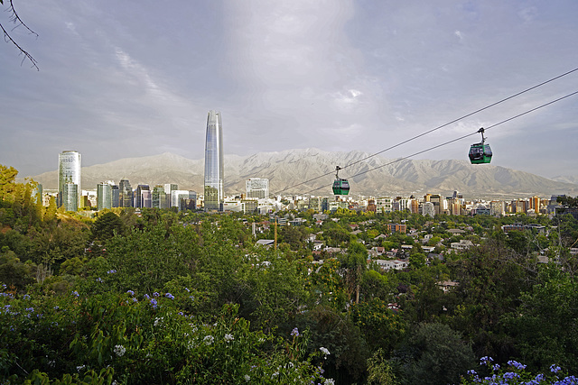 view to the centre of Santiago_Chile