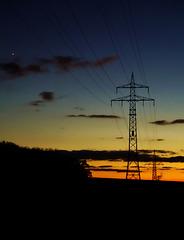 Blue Hour mit Abendstern Venus