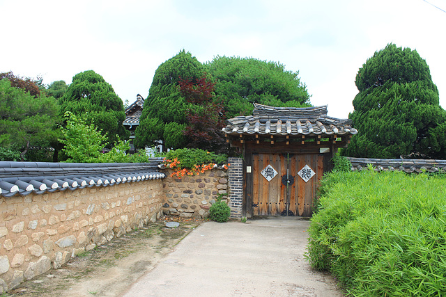 Wall and Gate in Hahoe Village
