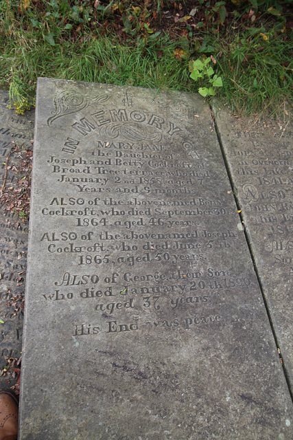 Cockcroft Memorial, Illingworth Churchyard, West Yorkshire