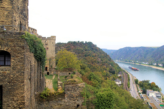Burg Rheinfels im Mittelrheintal....