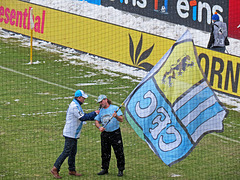 "Stadionsprecher Olaf Kadner und ""Gerdl"" - kurzärmelig ;-)"
