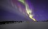 Auroras above fell Tunturipäät