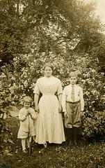 Three Kids in the Yard