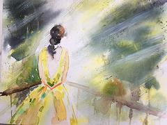 Aquarelle : Jour de pluie