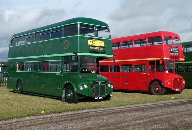 Preserved former London Transport Routemasters  at Showbus - 29 Sep 2019 (P1040633)