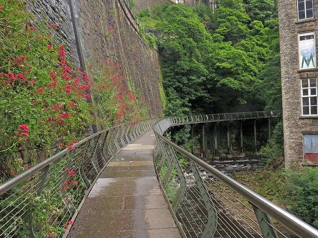 Millenium walkway at New Mills Derbyshire