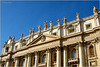 Detail from the top of the St. Peter's Basilica, Rome...