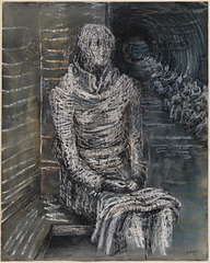 Henry Moore, Woman Seated in the Underground, 1941