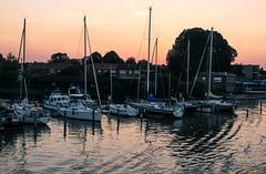 Abendrot im Seglerhafen
