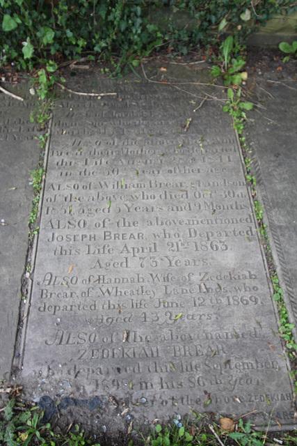 Brear Memorial, Illingworth Churchyard, West Yorkshire