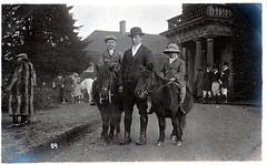 Hunt Meet at Etwall Hall, Derbyshire 23rd December 1920  photo by Ernest Aberahams of Burton upon Trent