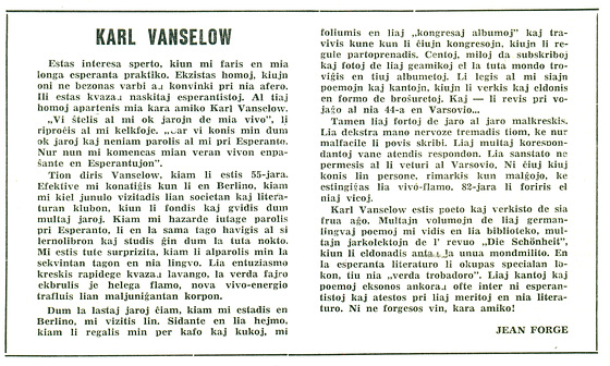 Forge, Nekorlogo pri Vanselow, en PolE Mar. 1960