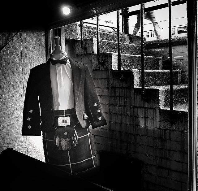 La boutique de kilts à Glasgow
