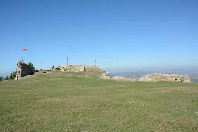 Albania, Vlorë, Ruins of the Castle of Kaninë