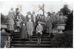 Hunt Meet at Osmaston Manor, Derbyshire 31st January 1921  photo by Ernest Aberahams of Burton upon Trent