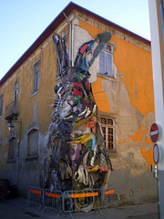 Rabbit, by Bordalo II.