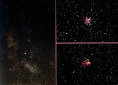 Eagle and Omega nebula