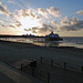 Sunrise over Eastbourne Pier.