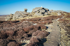 Gritstone weathered rocks .. at 538 metres.