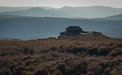 The distant 'Edale valley' from Derwent edge.