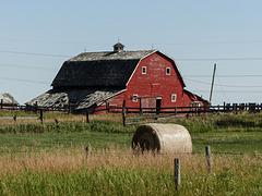 An old red barn