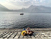 lake sunbathing