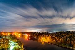 Night over Kiel Canal