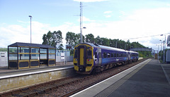158714 departs Dingwall