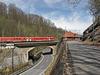 612er Triebwagenzug der DB erreicht den Bahnhof Edle Krone aus Chemnitz kommend