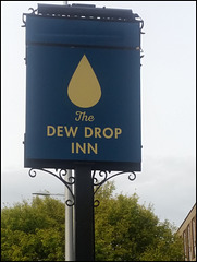 boring Dew Drop pub sign