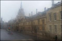 Oxford in the rain