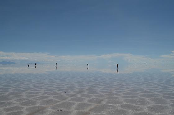 Bolivia, Salar de Uyuni, Walking on the Heaven