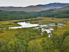 The Confluence of the Rivers Garry and Kingie - Lochaber