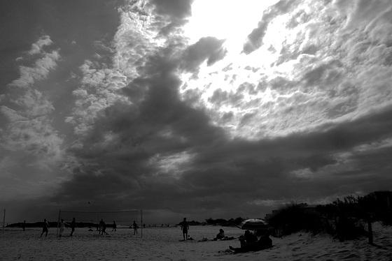 Un ciel menaçant.