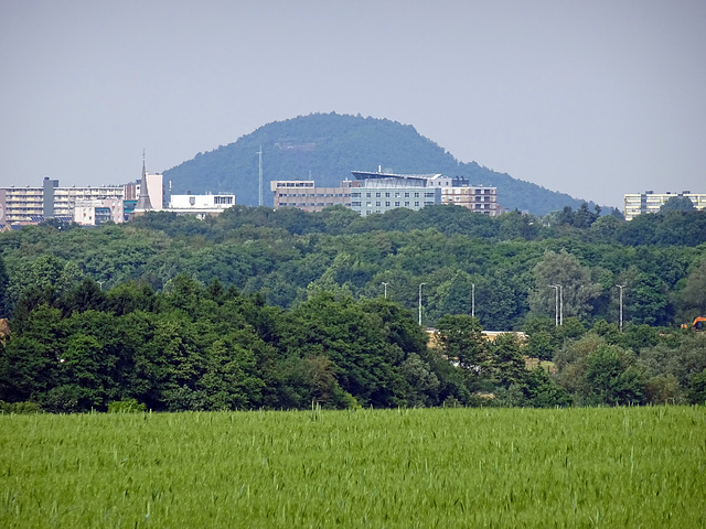 Eyecatcher to the centre of Kerkrade Netherlands & to the mining hill of Merkstein Germany