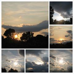 Sonnenuntergang am 24.08., der Vollmond naht...