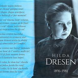 Hilda Dresen: Kirlante neĝon... (rimpoemo)