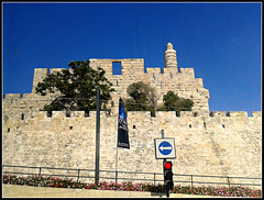 Jerusalén: murallas y minarete