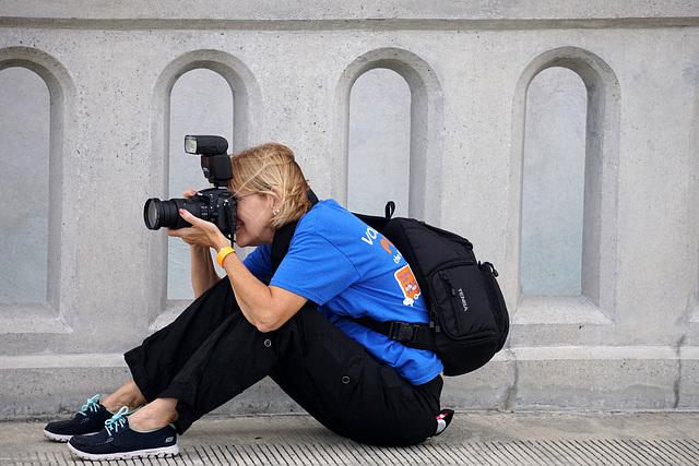 Photographer on the bridge