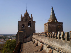The towers' terrace of Évora Cathedral.