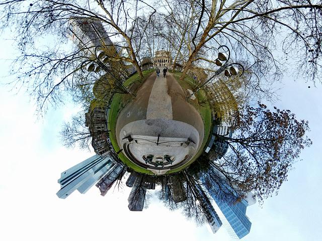 360 Grad Panorama (Little Planet)  - Frankfurt - Taunusanlage