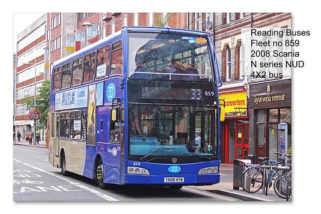 Reading Buses 859 2008 Scania N series - 18.8.2015