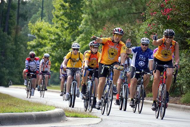 Cyclists at Carolina Colours